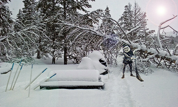 More snowfall buries ski trails