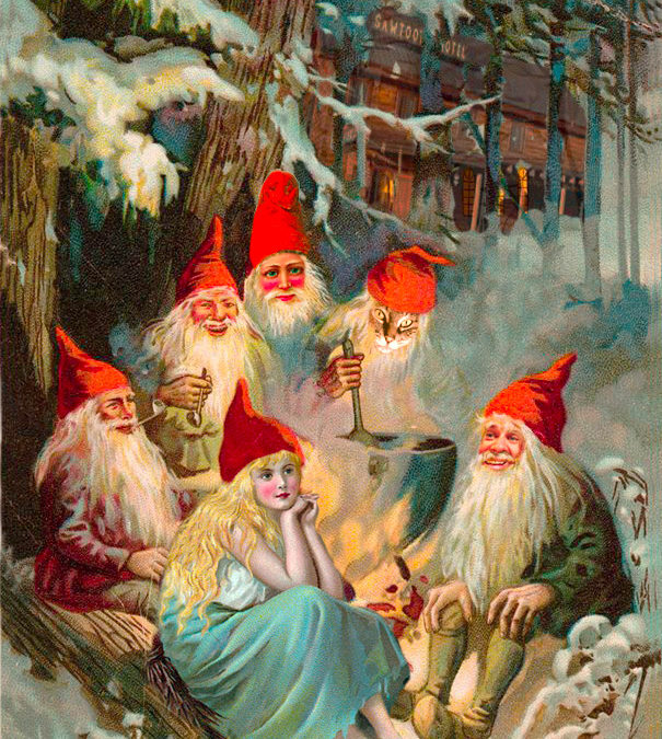 Trail grooming gnomes guard the earth's treasures…
